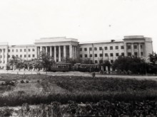 20-я и 75-я школы, трамвай N1 (50-60 годы)