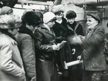 Ученики 20-й школы на заводе РСМ.
