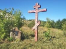 крест на месте свято Троицкого монастыря