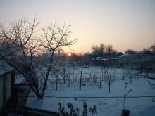 Зимний восход в Синегорке.