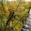 Подвесной мост через Кундрючью в хуторе Евсеевском