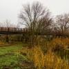 Мост через Кагальник построенный из платформ бронепоезда