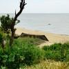 Старый баркас на берегу Таганрогского залива